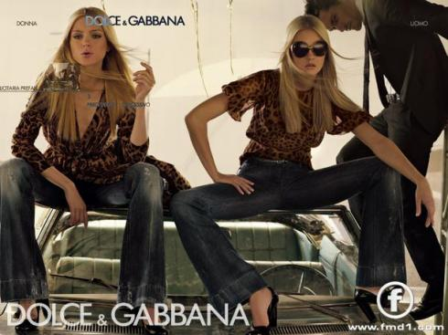 Caroline Trentini and Jessica Stam for Dolce & Gabbana