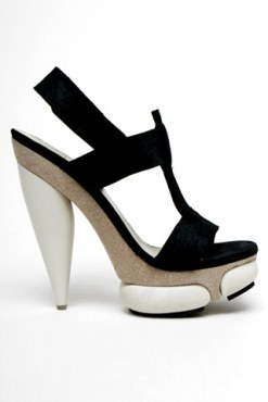 Balenciaga leather platform sandal