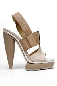 Balenciaga Leather platform T-strap sandal.
