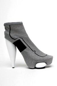 balenciaga Metallic elastic bootie.