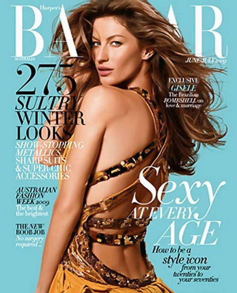 Gisele Bundhen for Bazaar Aussie June July 2009