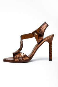 bottega veneta Metallic sandal
