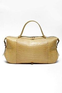 Bottega veneta Senape fumé crocodile bag.