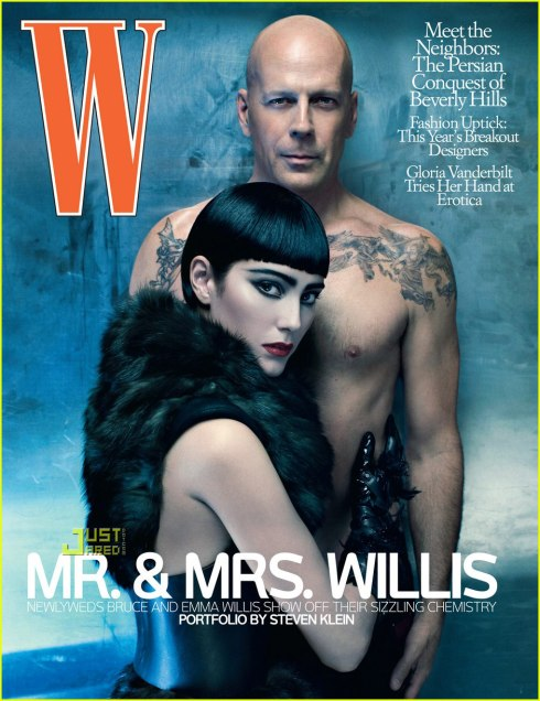 Bruce Willis for W July 2009