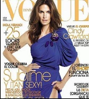 Cindy Crawford for Vogue Spain July 2009