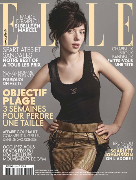 Scarlett Johansson for Elle France July 2009