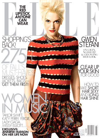 Gwen Stefani for Elle US July 2009