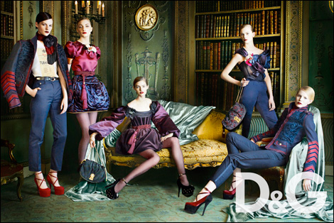 Sara Blomqvist, Hanna Rundlof, Katie Fogarty, Stephanie Rad, and Raghild By Mario Testino