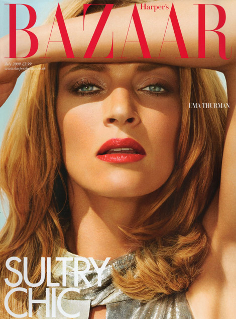 Uma Thurman for UK Harpers Bazaar July 2009