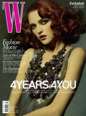 W Korea March 2009 by David Byun - Vlada Roslyakova cover