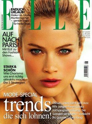 Carolyn Murphy for August 2009 Elle Germany
