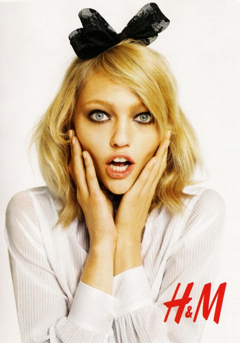Sasha Pivovarova by Terry Richardson for H&M