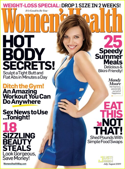 Mandy Moore for Women's Health July/August 2009