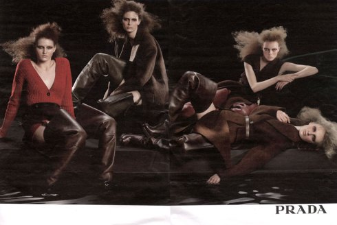 Prada Fall 2009 by Steven Meisel