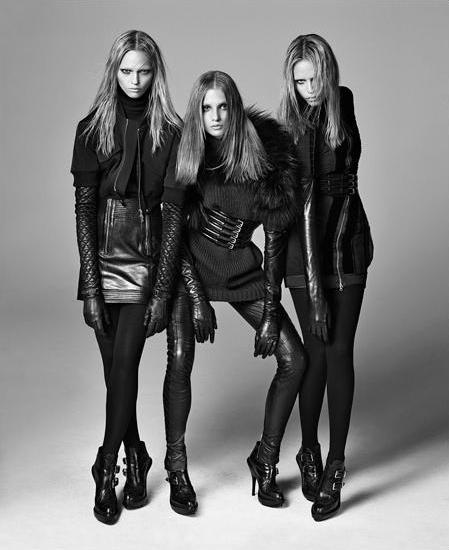 Sasha Pivovarova, Anna Selezneva and Natasha Poly by Steven Meisel
