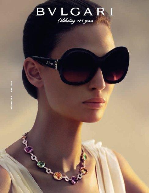 Bianca Balti for Bvlgari Eyewear