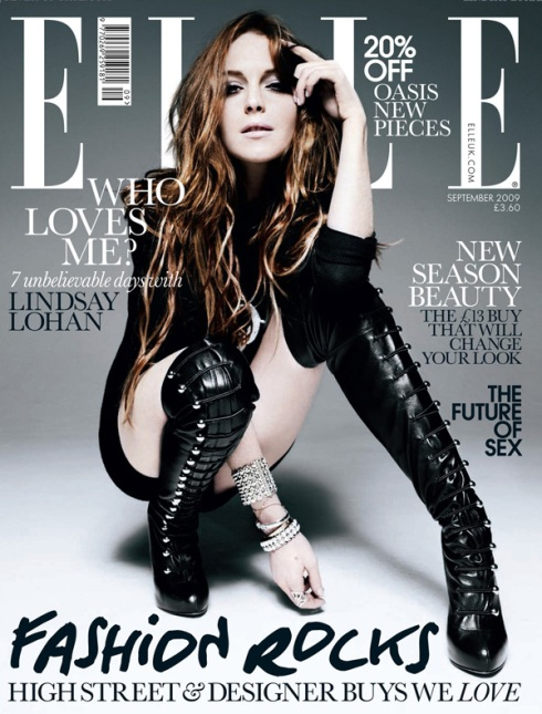 Lindsay Lohan for Elle UK
