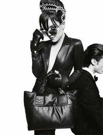 Lily Allen & Baptiste Giabiconi by Karl Lagerfeld