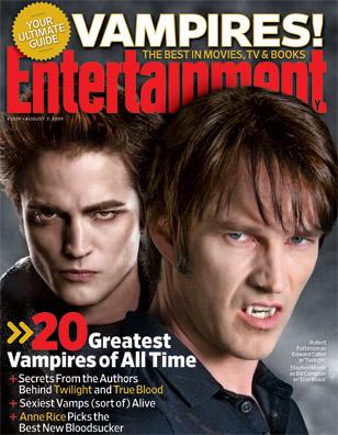 Robert Pattinson and Stephen Moyer EW # 1059 Jul 31 2009