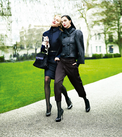 Eva Herzigova & Maria Carla Boscono by Mario Testino