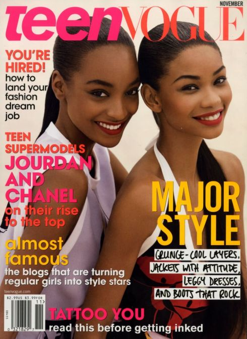 Jourdan Dunn & Chanel Iman by Patrick Demarchelier