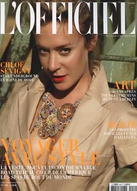 L'Officiel Nov 09 Chloe Sevigny