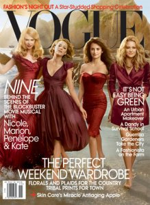 Nicole Kidman, Marion Cottilard, Penelope Cruz and Kate Hudson by Annie Leibovitz
