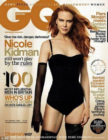 GQ UK Dec 09 Nicole Kidman