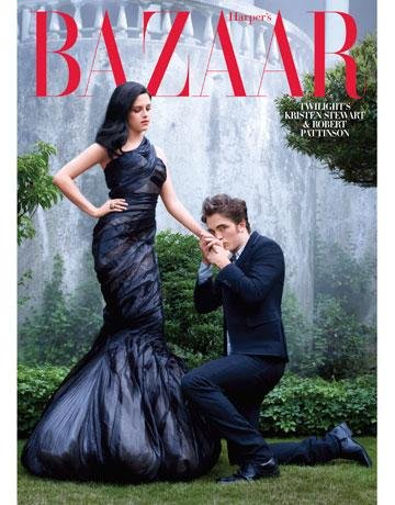Harper's Bazaar US Dec 09 Kristen Stewart & Robert Pattinson by Mark Seliger Subscriber Cover