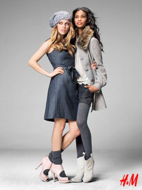 H&M Fall 2009 | Chanel Iman & Masha Novoselova by Thomas Klementsson 2