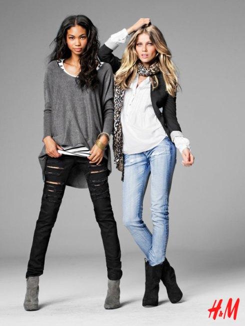 H&M Fall 2009 | Chanel Iman & Masha Novoselova by Thomas Klementsson 3