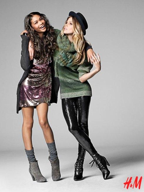 H&M Fall 2009 | Chanel Iman & Masha Novoselova by Thomas Klementsson