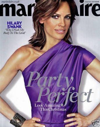 Marie Claire UK Dec 09 Hilary Swank