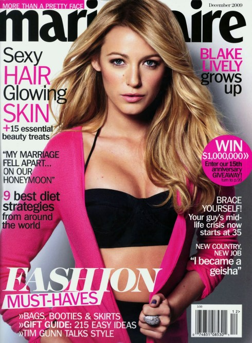 Marie Claire US Dec 09 Blake Lively