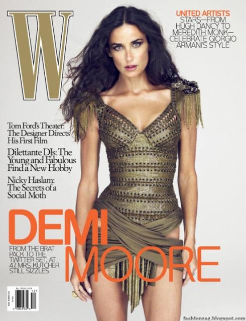 W Magazine December 2009 Demi Moore by Mert Alas & Marcus Piggott