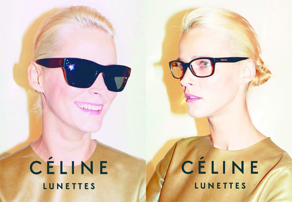 4e975bdfeab6 Celine Lunettes Spring Summer 2010 Ad Campaign. By art8amby. Carmen Kass by Juergen  Teller