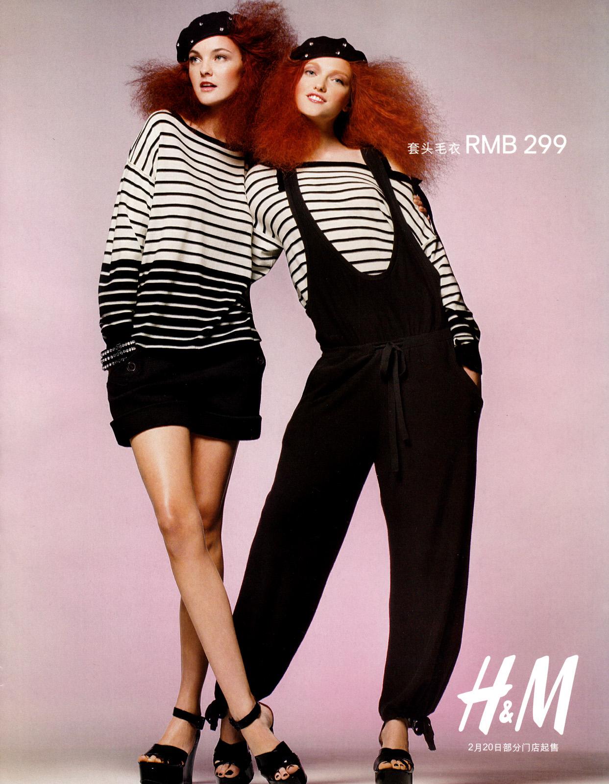 sonia rykiel pour h m spring summer 2010 ad campaign. Black Bedroom Furniture Sets. Home Design Ideas