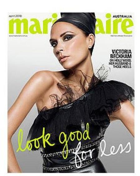 Victoria Beckham for Marie Claire Australia April 2010. Victoria Beckham
