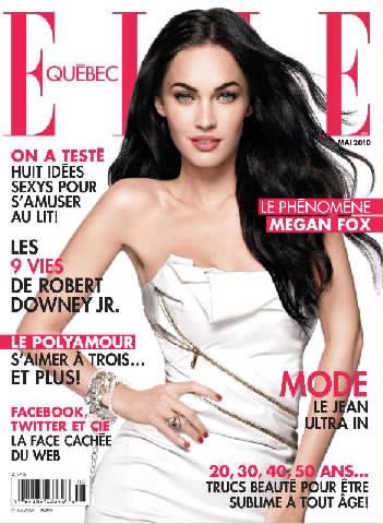 Megan Fox Elle Magazine 2010. Megan Fox for Elle Quebec May
