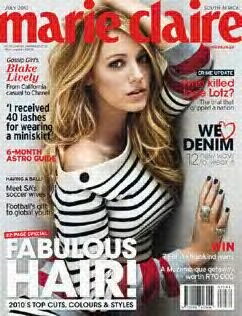 Blake Lively for Marie Claire South Africa July 2010 ...