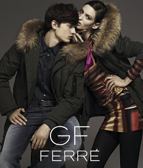 Emilio Tini photographed Eddie Klint and Georgina Stojiljkovic for GF Ferre ...