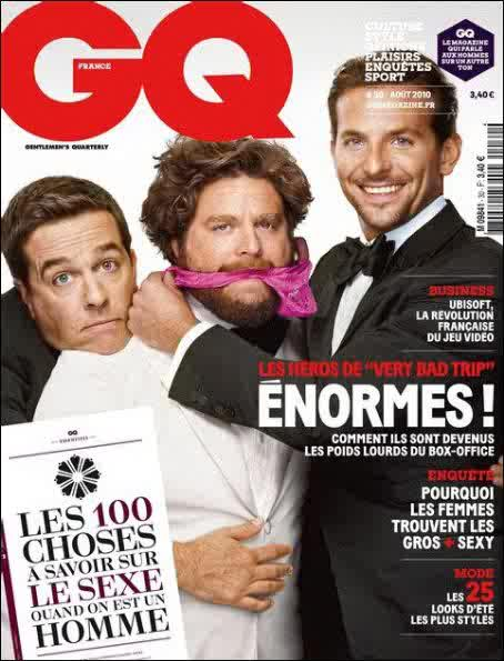 Ed Helms, Zach Galifianakis & Bradley Cooper for GQ France ...