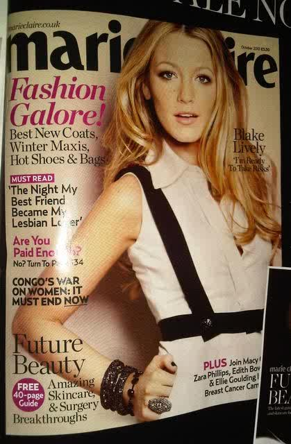Blake Lively Marie Claire. Blake Lively for Marie Claire