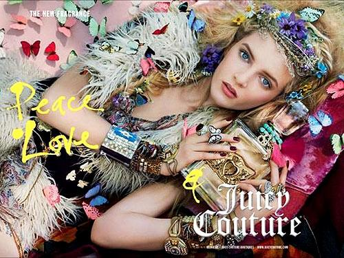 Peace. Love & Juicy Couture Fragrance Ad Campaign. From Models.com