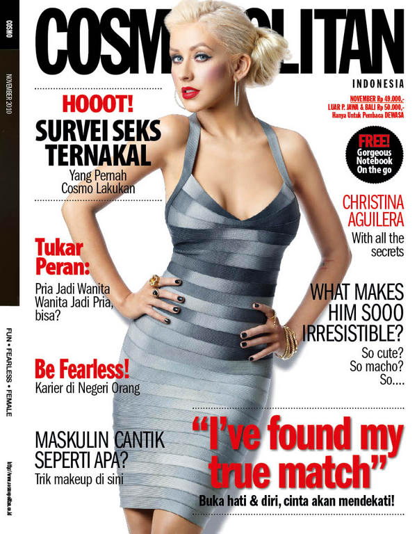 How To Cancel Uber >> Christina Aguilera for Cosmopolitan Indonesia November 2010 | Art8amby's Blog