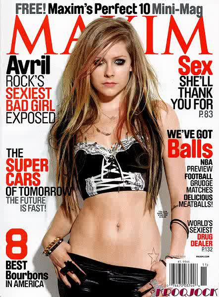 Avril Lavigne for Maxim US November 2010