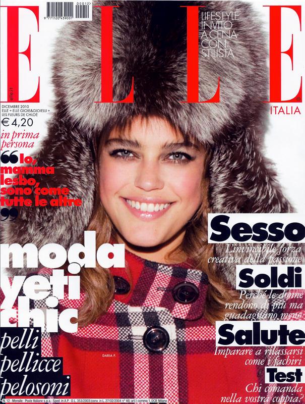 Daria pleggenkuhle for elle italia december 2010 for Elle italia