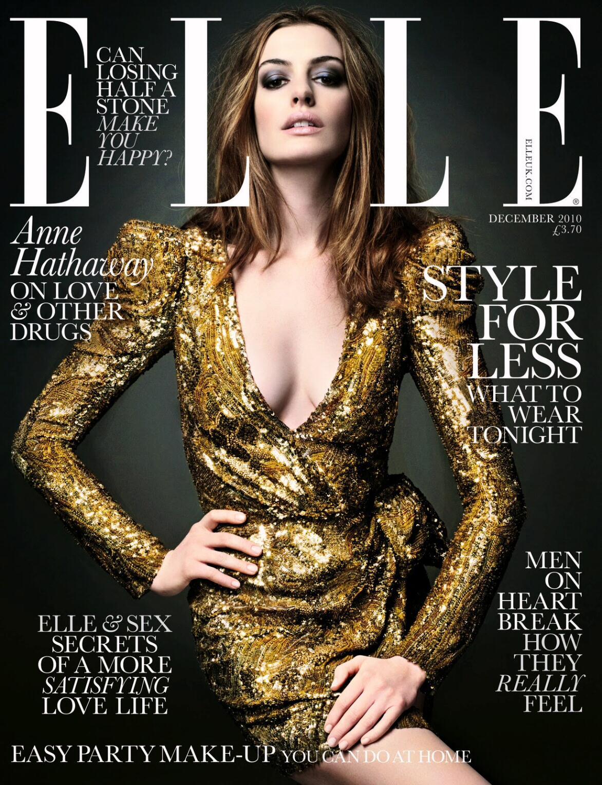 Anne Hathaway for Elle UK December 2010