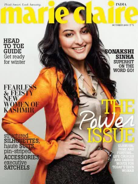 Sonakshi Sinha For Marie Claire India November 2010 Art8amby 39 S Blog