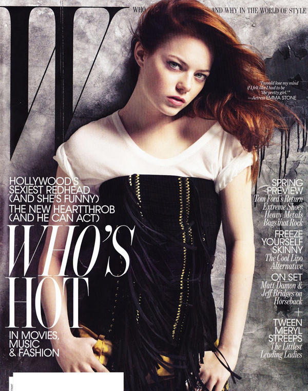 "emma stone hair 2011. The ""it"" red hair of the"